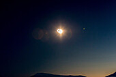 Sun during the total solar eclipse on Spitzbergen, Svalbard, Norway