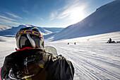 On Snowmobiles through Spitzbergen, Spitzbergen, Svalbard, Norway