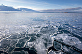 Arctic sea with ice at Spitzbergen, Svalbard, Norway