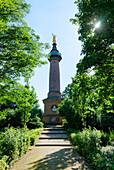 Monument on Hakenberg near Fehrbellin, Brandenburg, Germany