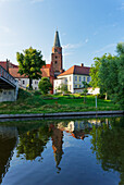 View over the Havel to the Island with Cathedral St. Peter and Paul, Brandenburg an der Havel, Brandenburg, Germany