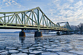 Havel, Glienicke Bridge between Potsdam and Berlin, Brandenburg, Germany