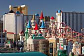 Excalibur Hotel, Strip, South Las Vegas Boulevard, Las Vegas, Nevada, USA