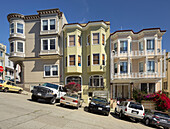 Houses in Montgomery Street, Telegraph Hill, San Francisco, California