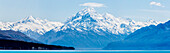 Mount Cook seen from Lake Pukaki, Hwy 8. South Island, New Zealand