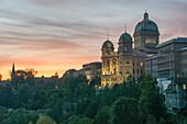 Das Bundeshaus in Bern, Schweiz