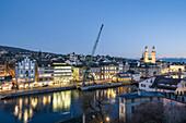 Rive Limmat, Dock Crane from Rostock in Zurich, The Zurich Transit Maritim exhibit , Zurich, Switzerland