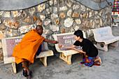 Monk in Hua Hin, center-Thailand, Thailand