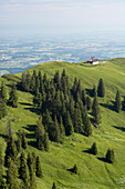 Cousimbert Hut on the summit of Cousimbert, foothills of Fribourg, canton of Fribourg, Switzerland