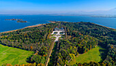 Aerial view of Herrenchiemsee Castle, Chiemsee, Bavaria, Germany