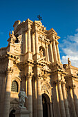 Cathedral Santa Maria delle Colonne in Old Town city center, Syracuse, Sicily, Italy