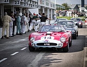 1963 Ferrari 250 GTO/64, pit lane,  RAC TT Celebration, Goodwood Revival 2014, Racing Sport, Classic Car, Goodwood, Chichester, Sussex, England, Great Britain