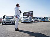 Assemby Area, Rennleiter, Group B Sprint, Rally Cars, 72nd Members Meeting, Rennsport, Autorennen, Classic Car, Goodwood, Chichester, Sussex, England, Großbritannien