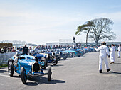 Bugatti racing cars, Grover-Williams Trophy, 72nd Members Meeting, racing, car racing, classic car, Chichester, Sussex, United Kingdom, Great Britain