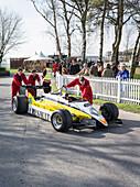 1982 Renault RE30B, turbo Formula 1 racing car, 72nd Members Meeting, racing, car racing, classic car, Chichester, Sussex, United Kingdom, Great Britain
