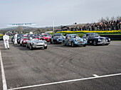 1950s Production Sports and GT cars, Tony Gaze Trophy, 72nd Members Meeting, racing, car racing, classic car, Chichester, Sussex, United Kingdom, Great Britain