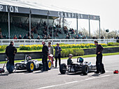 preparation for start, Clark-Stewart Cup, 72nd Members Meeting, racing, car racing, classic car, Chichester, Sussex, United Kingdom, Great Britain