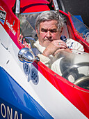 Al Unser, four times winner of Indianapolis, Goodwood Festival of Speed 2014, racing, car racing, classic car, Chichester, Sussex, United Kingdom, Great Britain