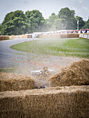 Crash of a Surtees Chevrolet TS11 Formula 1 racing car, Goodwood Festival of Speed 2014, racing, car racing, classic car, Chichester, Sussex, United Kingdom, Great Britain