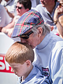 Sir Jackie Stewart and grandson, Goodwood Festival of Speed 2014, racing, car racing, classic car, Chichester, Sussex, United Kingdom, Great Britain