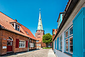 Old town and St. Lorenz Church, Hanseatic City, Luebeck Travemuende, Baltic Coast, Schleswig-Holstein, Germany