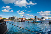 Harbour and city centre, Kiel, Baltic Coast, Schleswig-Holstein, Germany