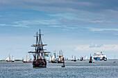 Sailing parade, Kieler Woche, Kiel, Baltic Coast, Schleswig-Holstein, Germany