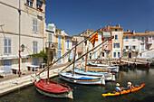 Boote, Hafen in Martigues, Hafenstadt am Etang de Berre, Bouches-du-Rhone, Mediterranean Sea, Provence, France, Europe