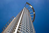 Westend 1 Tower (DZ Bank) skyscraper in financial district, Frankfurt am Main, Hessen, Germany, Europe