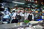 Cooks in Restaurant Mahaney, Jerusalem, Israel