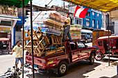 pickup truck fully loaded, Pucallpa, Huanuco Region, Peru, South America