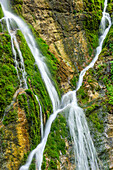 Water flowing over rock face, Wimbachklamm, National park Berchtesgaden, Berchtesgaden Alps, Berchtesgaden, Upper Bavaria, Bavaria, Germany