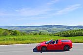 Ferrari Spider, Cabrio, Ferrari Tribute Club, Oldtimer, on the road the Tuscan landscape, Oldtimer, Racing cars, Mille Miglia, 1000 Miglia, 2014, 1000 Meilen, near Radicofani, Tuscany, Italy, Europe