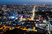 Aerial view of Trichy cityscape, Tiruchirappalli, Tamil Nadu, India, Tiruchirappalli, Tamil Nadu, India
