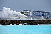 Power plant in arctic landscape, Keflavik, Sudhurnes, Iceland