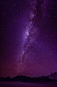 Milky Way galaxy in starry night sky, Mount Bromo, Surabaya, Indonesia