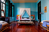 Brazil, Salvador de Bahia, bedroom, two Marilyn Monroe paintings