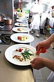 France, restaurant kitchen.