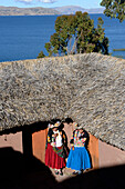 Traditional house near Titicaca lake in Peru,South America