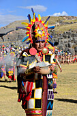 Inti Raymi, the Festival of the Sun is the annual recreation of an important Inca ceremony in Sacsayhuaman in the city of Cuzco, Peru, South America-june 24