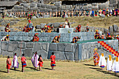 Inti Raymi,the Festival of the Sun is the annual recreation of an important Inca ceremony in Sacsayhuaman in the city of Cuzco, Peru,South America-june 24,2013