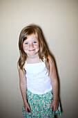 Portrait of a 5 years old girl smiling