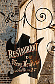 Restaurant in the old part of the city of Honfleur. France.