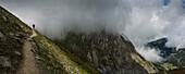 Mountain path, Mt. Blanc, Switzerland