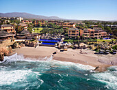 Aerial view of resort on ocean, Cabo San Lucas, BCS, Mexico