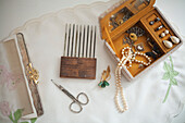 Vintage Jewelry Box and Combs