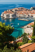 A view of Dubrovnik, Croatia on a sunny day.
