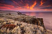 View over the Ancient Hawaiian Ruin of Kaunolu, Lana`i, Hawai`i