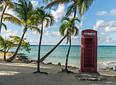 Abandoned phone booth near Dickenson Bay, St. John?s, Antigua, West Indies