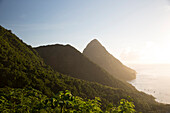 Landscape view of Piton in Saint Lucia